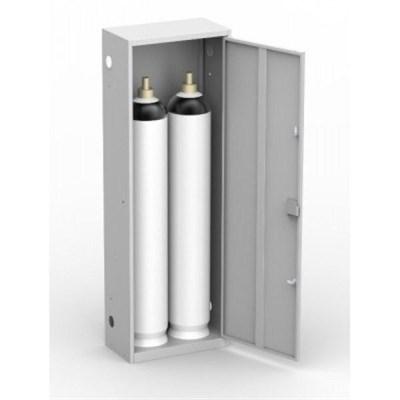 Шкаф металлический для двух кислородных баллонов Металл-Завод ШГР 40-2 - фото 31960