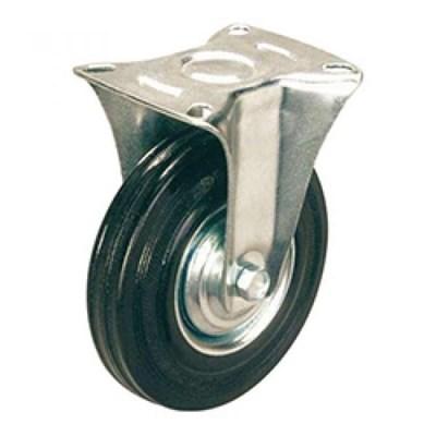 Колесная опора промышленная неповоротная FC 160 (FC63, 11160F) черная резина - фото 32525