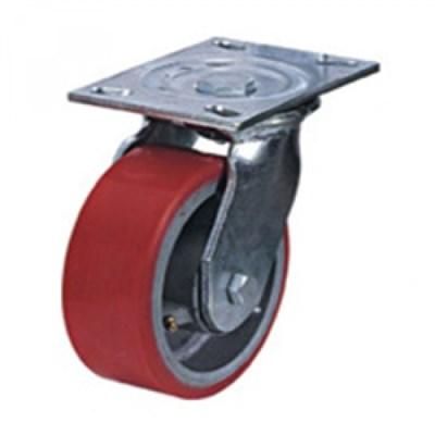Колесная опора промышленная большегрузная поворотная SCp80 (чугун/пу) - фото 32540
