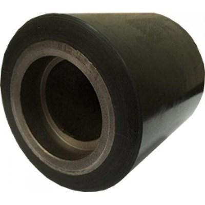 Ролик ходовой 80*85 мм (полиуретан/металл), с подшипником, Single, совместим: гидравлическая тележка (рохля, рокла), штабелер - фото 32562