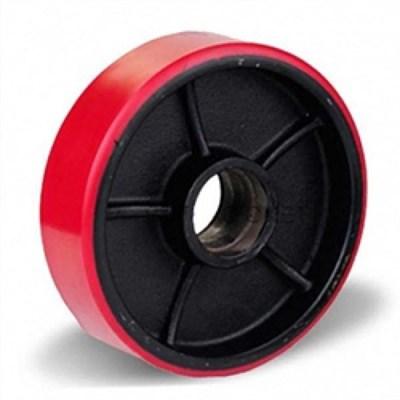Колесо рулевое 160х50 мм (пу/чугун), с подшипником, совместим: гидравлическая тележка (рохля, рокла), штабелер - фото 32563