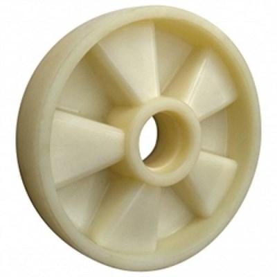 Колесо рулевое 200х50 мм (нейлон), с подшипником, совместим: гидравлическая тележка (рохля, рокла), штабелер - фото 32568