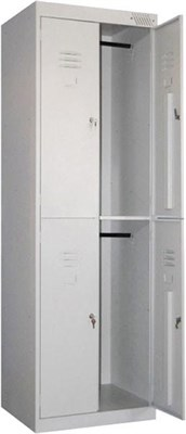Металлический шкаф для одежды сборный Металл-Завод ШРК-24-800 (гардербный) - фото 32688
