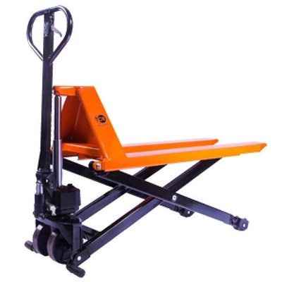 Тележка гидравлическая 1000 кг TOR JF с ножничным подъемом (полиуретан.колеса) - фото 33727