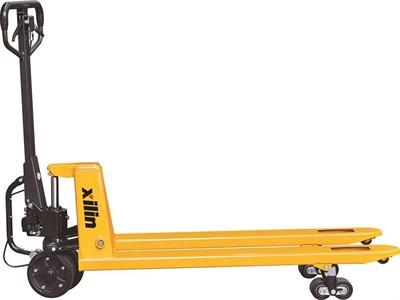 Тележка гидравлическая г/п 2500 кг XILIN BFA с механическим приводом (полиуретан.колеса) - фото 33739