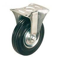 Колесная опора промышленная неповоротная FC 200 (11200F, FC80) черная резина