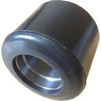 Ролик ходовой PA 80*60 мм (полиамид черный), без подшипника, совместим: гидравлическая тележка (рохля, рокла), штабелер