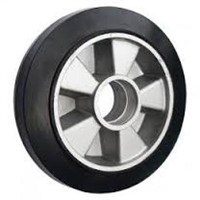 Колесо рулевое 200х50 мм (резина/алюминий), с подшипником, совместим: гидравлическая тележка (рохля, рокла), штабелер