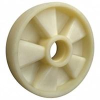 Колесо рулевое 200х50 мм (полиамид), без подшипника, совместим: гидравлическая тележка (рохля, рокла), штабелер