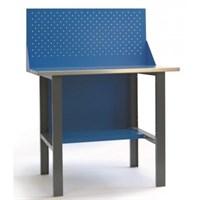 Верстак-стол слесарный металлический ВС-1 1000х685х850 мм с панелью