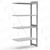 СКУ стеллаж 1244 (2485)-ДС металлический, 2485х1266х400 мм, полок: 4 шт.