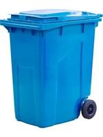 Мусорный контейнер п/э 360л. цв. синий (МКТ 360 синий)