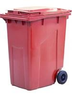 Мусорный контейнер п/э 360л. цв. красный (МКТ 360 красный)