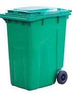 Мусорный контейнер п/э 360л. цв. зелёный (МКТ 360 зеленый)