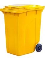 Мусорный контейнер п/э 360л. цв. жёлтый (МКТ 360 желтый)