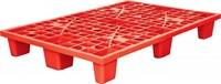 Паллет 1200х800х160 мм (перфорированный на 9 ножках вкладываемый) красный (TR 1208 L красный)