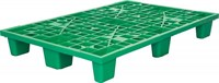 Паллет 1200х800х160 мм (перфорированный на 9 ножках вкладываемый) зеленый (TR 1208 L зеленый)