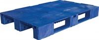Паллет п/э 1200x800х150 сплошной, на 3-х полозьях цв. синий (TR 1208-1 синий)