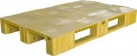 Паллет п/э 1200x800х150 сплошной, на 3-х полозьях цв. желтый (TR 1208-1 желтый)