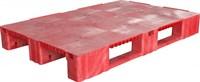 Паллет п/э 1200x800х150 сплошной, на 3-х полозьях цв. красный (TR 1208-1 красный)