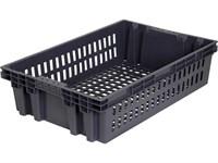 Ящик п/э хлебный 600х400х152,5 черный, вес 1,2 кг (403)