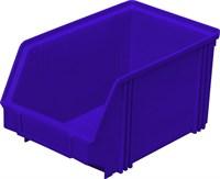 Ящик п/п 250х148х130 цв. синий (7967)