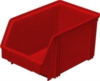 Ящик п/п 250х148х130 цв. красный (7967)