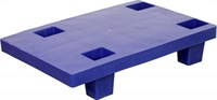 Паллет 600х400х130 (сплошной на ножках) синий (TR 400-1 синий)