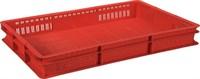 Ящик п/э 600х400х75 с перфорацией цв. красный (423)