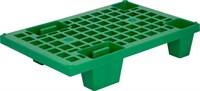 Паллет 600х400х130 (перфорированный на ножках) зеленый (TR 400 зеленый)