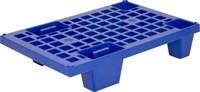 Паллет 600х400х130 (перфорированный на ножках) синий (TR 400 синий)