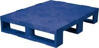 Паллет п/э 800х600х150 сплошной, на 3-х полозьях цв. синий (TR 680 синий)