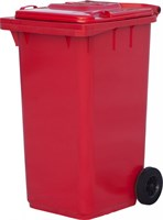 Мусорный контейнер п/э 240л. цв. красный (МКТ 240 красный)