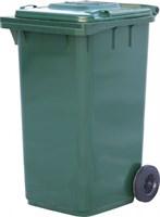 Мусорный контейнер п/э 240л. цв. зелёный (МКТ 240 зеленый)
