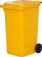 Мусорный контейнер п/э 240л. цв. жёлтый (МКТ 240 желтый)