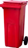Мусорный контейнер п/э 120л. цв. красный (МКТ 120 красный)