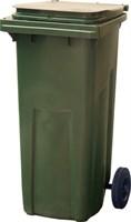Мусорный контейнер п/э 120л. цв. зелёный (МКТ 120 зеленый)
