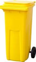 Мусорный контейнер п/э 120л. цв. жёлтый (МКТ 120 желтый)