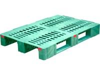 Паллет п/э 1200х800х150 перфорированный усиленный (версия 2), на 3-х полозьях цв. зеленый (TR 1208-3-2 зеленый)