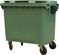 Мусорный контейнер п/э 660л. на колёсах цв. зелёный (MGB-660 зеленый)