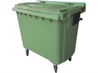 Мусорный контейнер п/э 770л. на колёсах цв. зелёный (MGBK-770 зеленый)