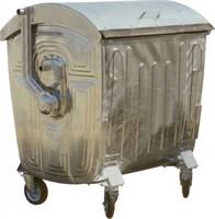 Мусорный контейнер на колёсах (1100 л) оцинкованный (МКЦ-1100)