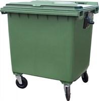 Мусорный контейнер п/э 1100л. на колёсах цв. зелёный (MGBK-1100 зеленый)