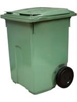 Мусорный контейнер на колёсах (370 л) зеленый (MGB-370 зеленый)